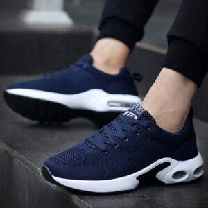 Men's Air Bubble Sport Shoes SHOES, HATS & BAGS Sports Shoes & Floaters cb5feb1b7314637725a2e7: Black|Blue|Silver