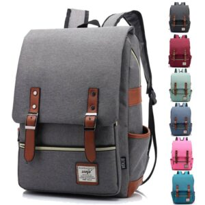 Retro Style Backpack For Laptop Laptop bags SHOES, HATS & BAGS cb5feb1b7314637725a2e7: Blue|Blue Green|Dark Grey|Light Green|Light Grey|Pink|Purple|Wine Red