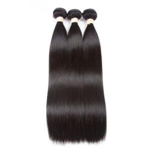 3 Pcs Women's Dark Brown Straight Peruvian Hair Weaves