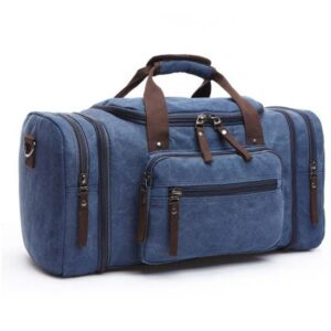 Canvas Large Travel Bag Luggages & Trolleys SHOES, HATS & BAGS cb5feb1b7314637725a2e7: Black|Blue|Brown|Gray|Khaki