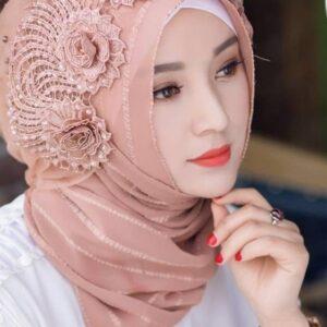 Elegant Muslim Women's Polyester Scarf Hijabs FASHION & STYLE Veils & Scarfs cb5feb1b7314637725a2e7: 1|2|3|4