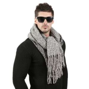Men Fashion Knitted Scarf