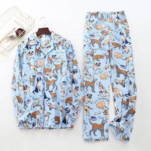 Kawaii Cotton Men's Pajamas Set