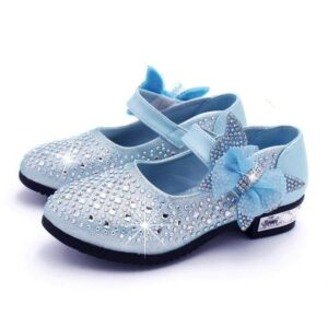 Girl's Sandals With Bow And Rhinestones