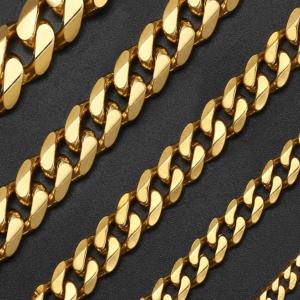 Luxury Men's Chain Necklace JEWELRY & ORNAMENTS Men's Jewelry cb5feb1b7314637725a2e7: Black|Gold|Silver