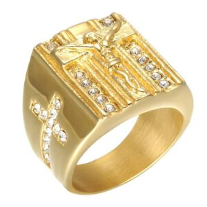 Iced Out Jesus Christ Cross Shaped Rings JEWELRY & ORNAMENTS Men's Jewelry 2ced06a52b7c24e002d45d: 10|11|12|8|9