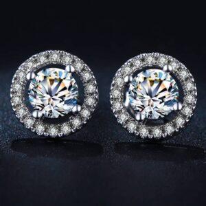 Women's Crystal Stud Earrings Earrings JEWELRY & ORNAMENTS Back Finding: Push-Back