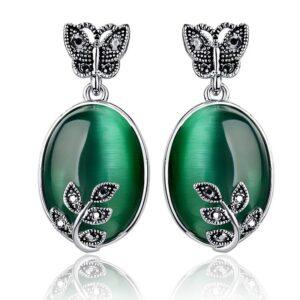 Women's Earrings with Opal Stone Earrings JEWELRY & ORNAMENTS 8d255f28538fbae46aeae7: Silver